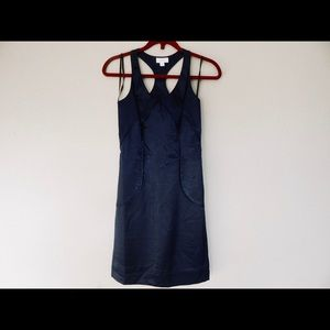 Richard Chai Navy Blue Body Con Racer Back Dress 1